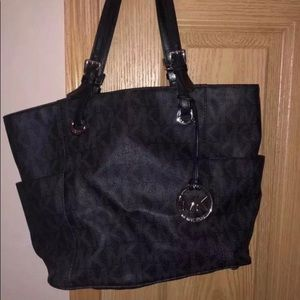 Michael Kors Bags - Michael Kors Monogram Black Jet Set Handbag